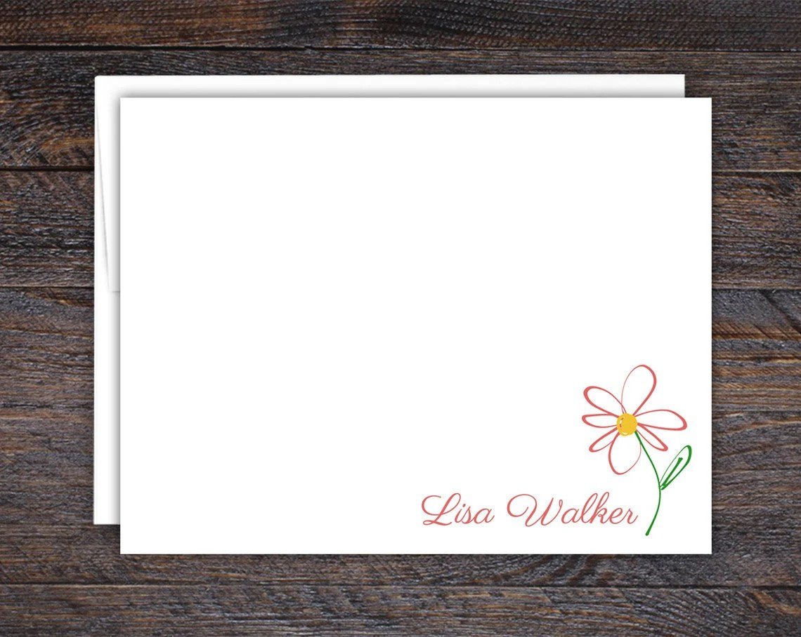 Flat Note Card Set for Wo...