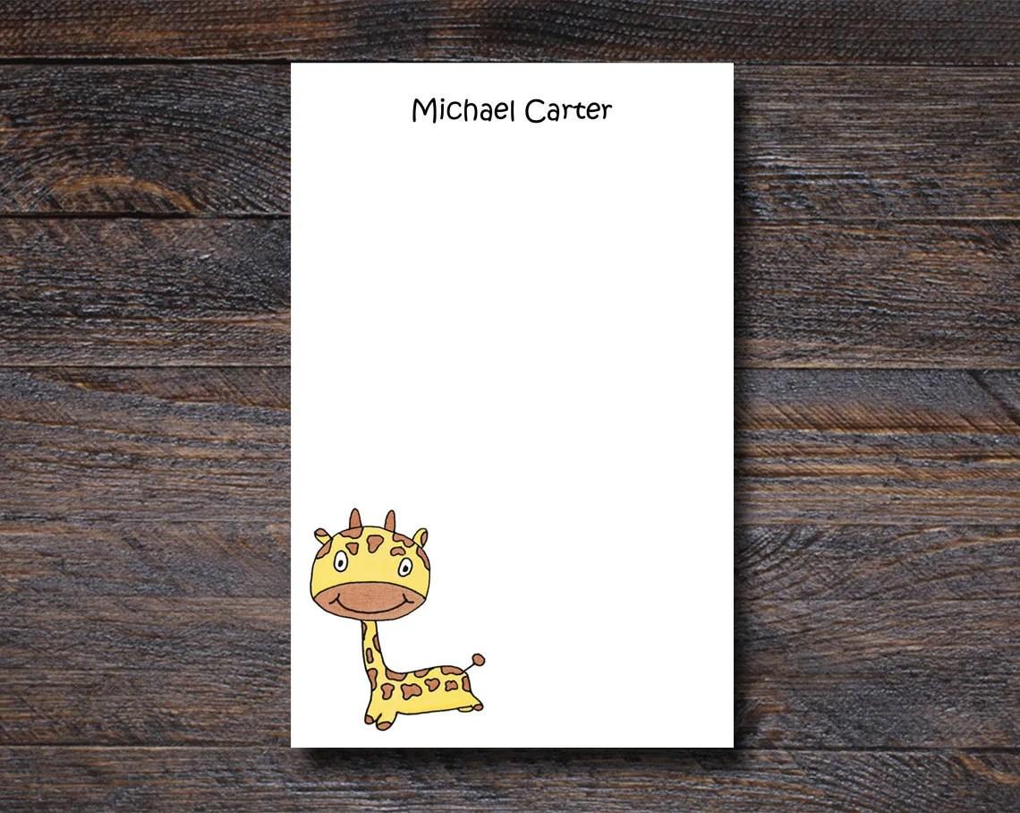 Personalized Giraffe Note...