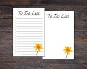 Daffodil To Do List Pad -...