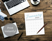 2019 Printable Calendar P...