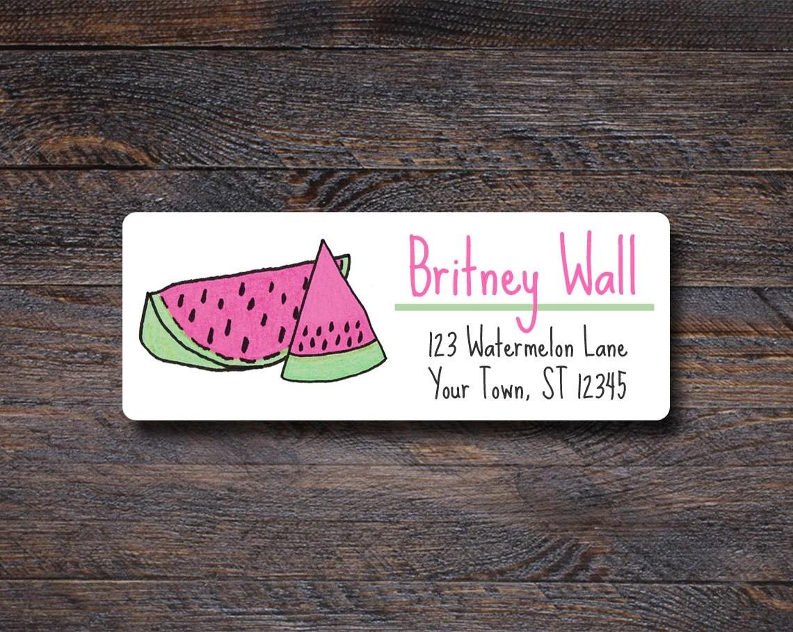 Watermelon Address Labels...