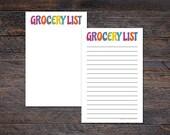Grocery List Pad - Colorf...