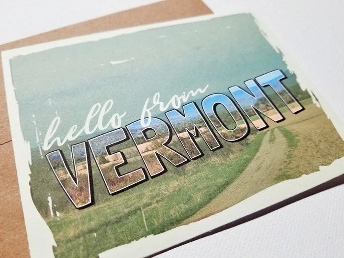 Hello From Vermont Card -...