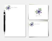Purple Lotus Stationery S...