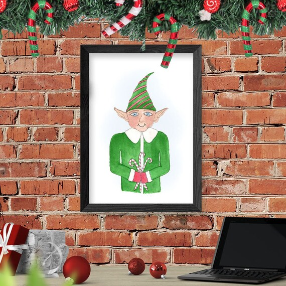 Mr. Elfy-Elf Christmas Wall Decor