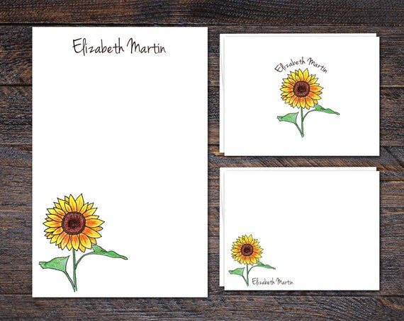 2018 Fall Collection: Sunflower Stationery Set