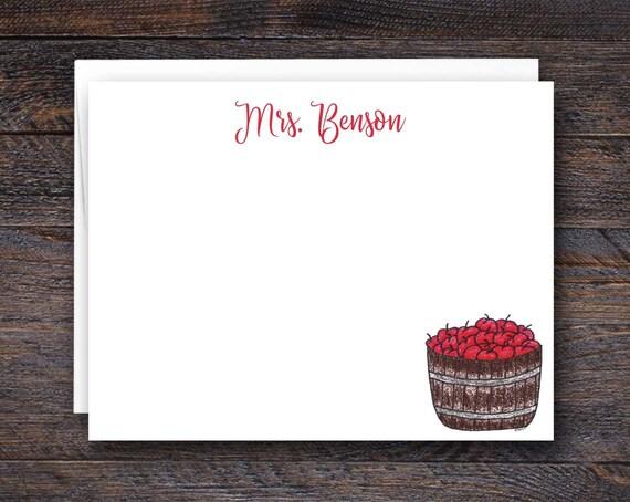 Apple Basket Flat Notecard Set