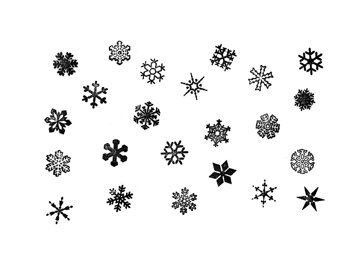 Snowflake Rubber Stamp Special No Two Snowflakes Are Alike