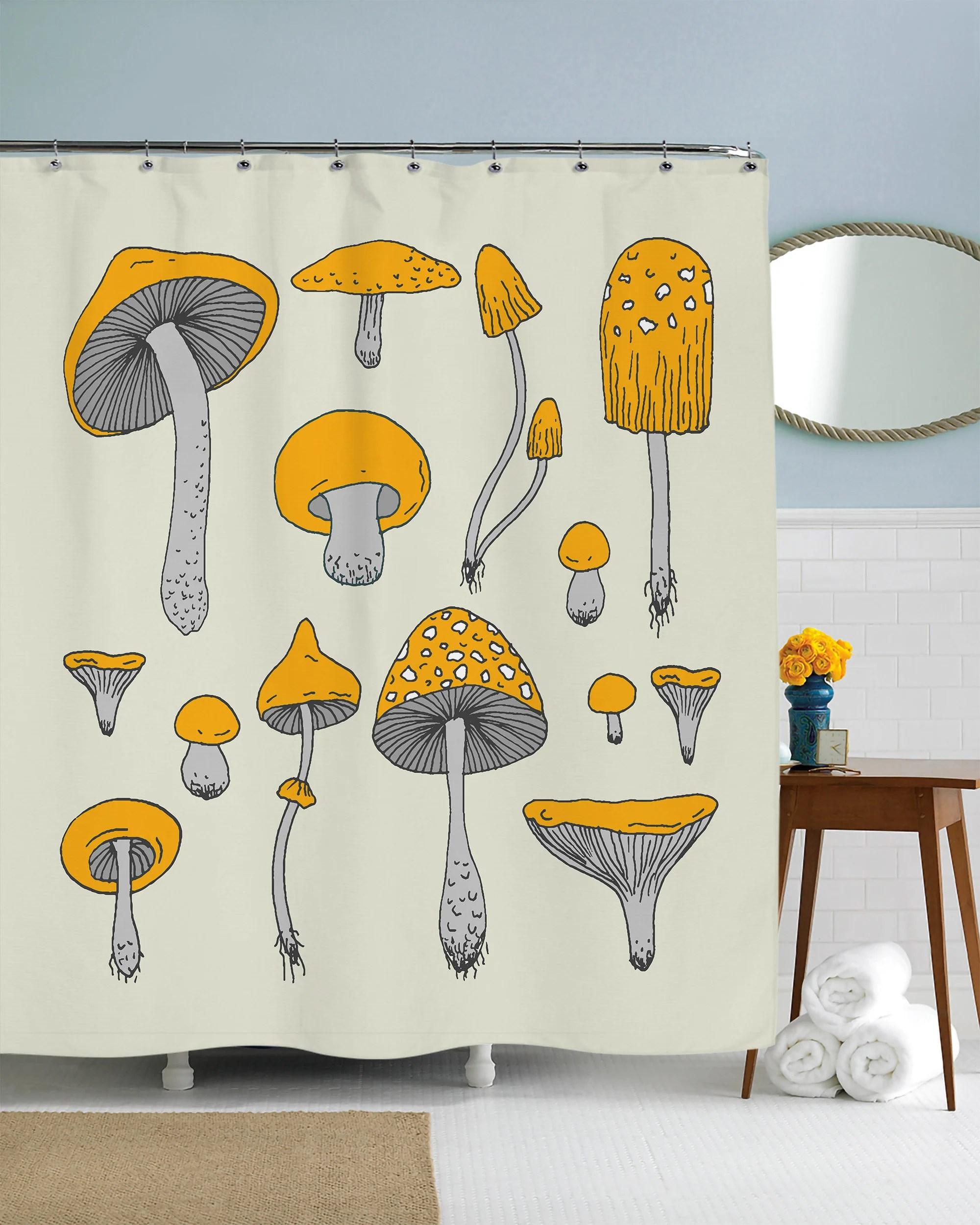 mushroom curtain etsy