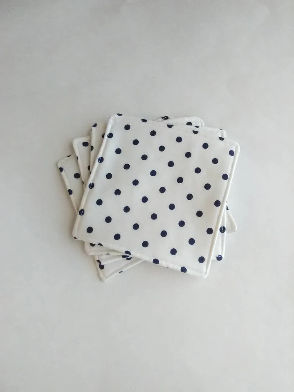 Blue and White Polkadot F...