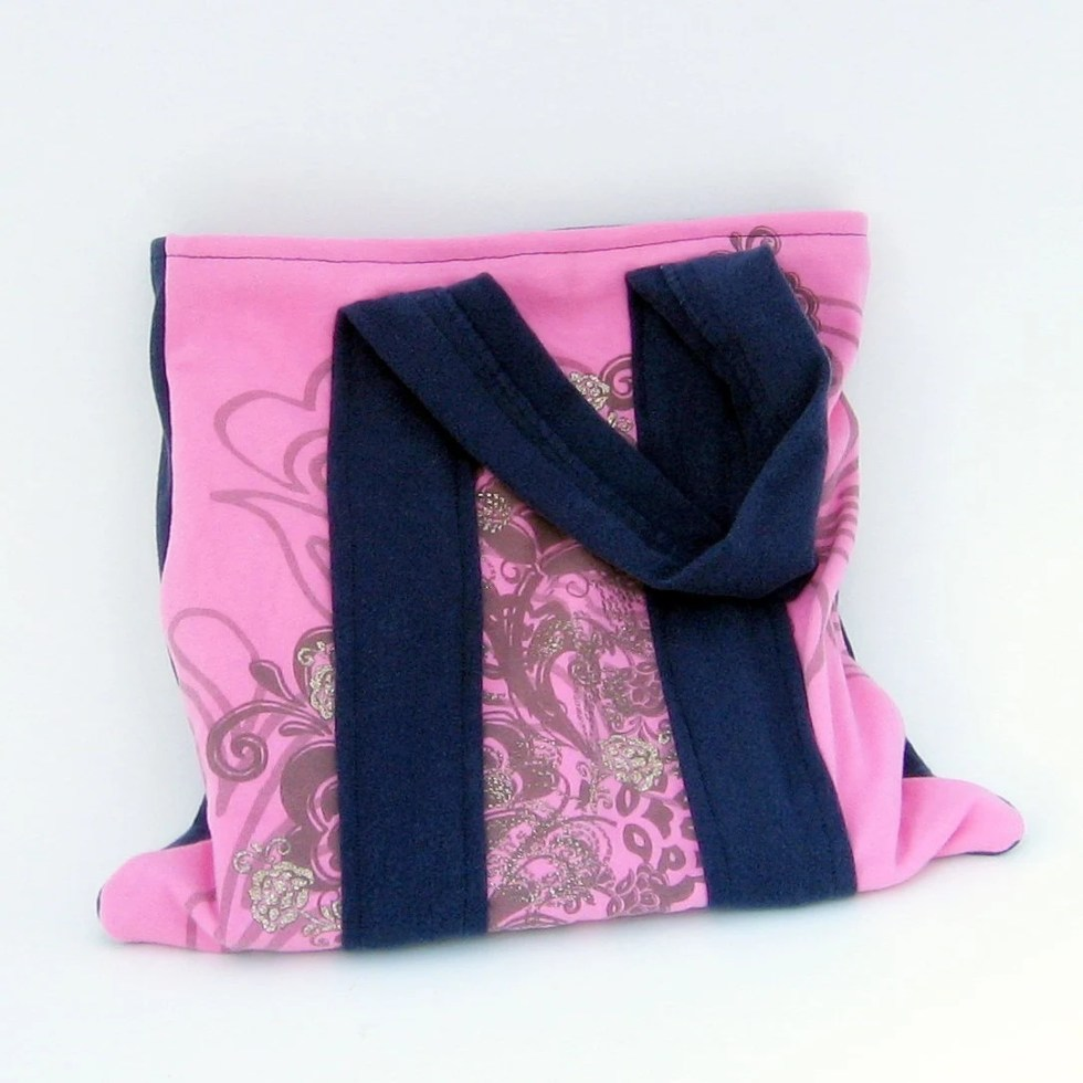 Pink and Dark Blue Upcycl...