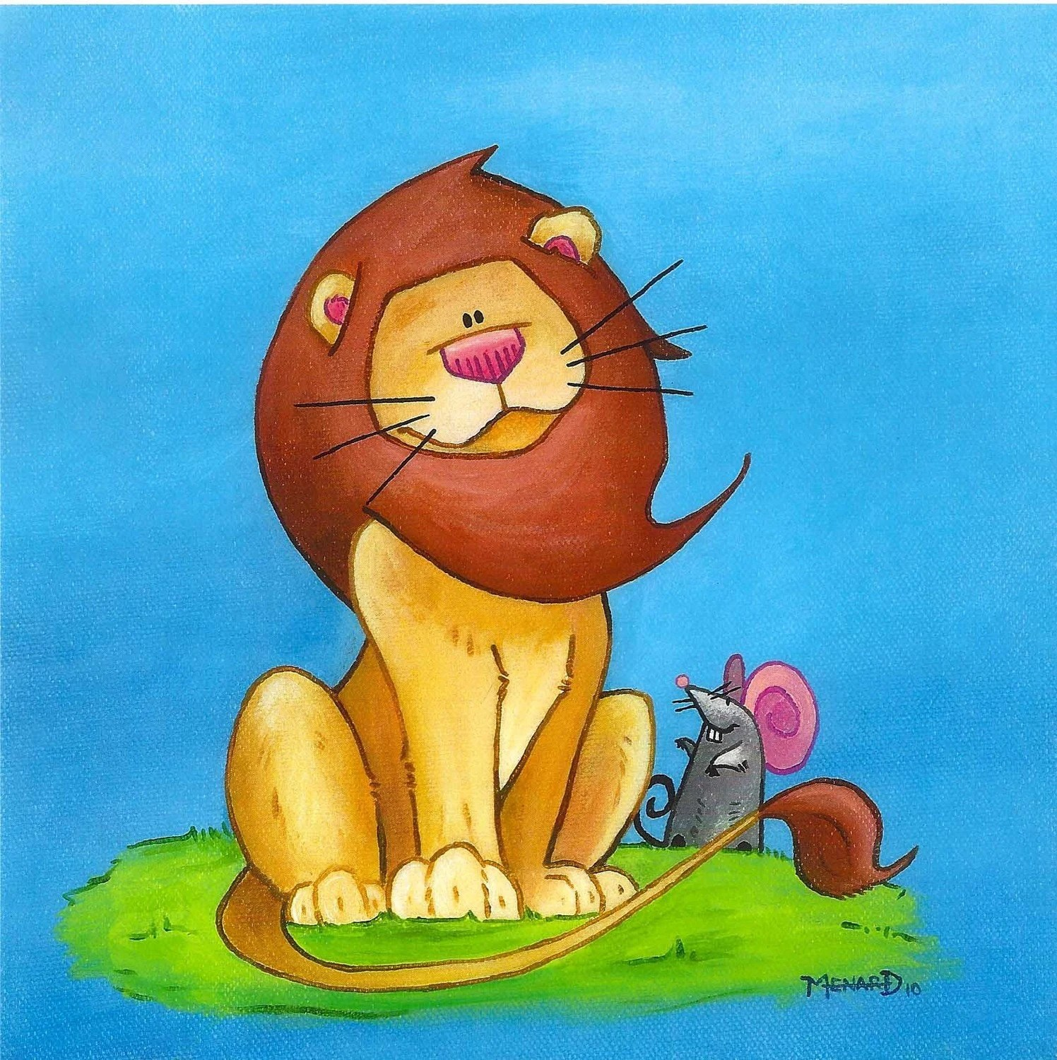 Friends Lion And Mouse