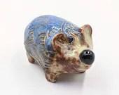 blue hedgehog figurine sculpted original