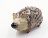 copper hedgehog figurine sculpted original