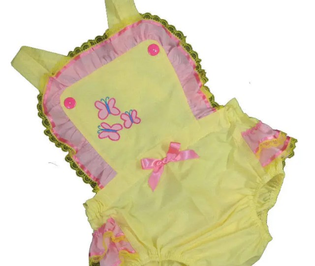 Adult Baby Sissy Littles Abdl My Little Pony Fluttershy Sun Suit Romper Binkies N Bows