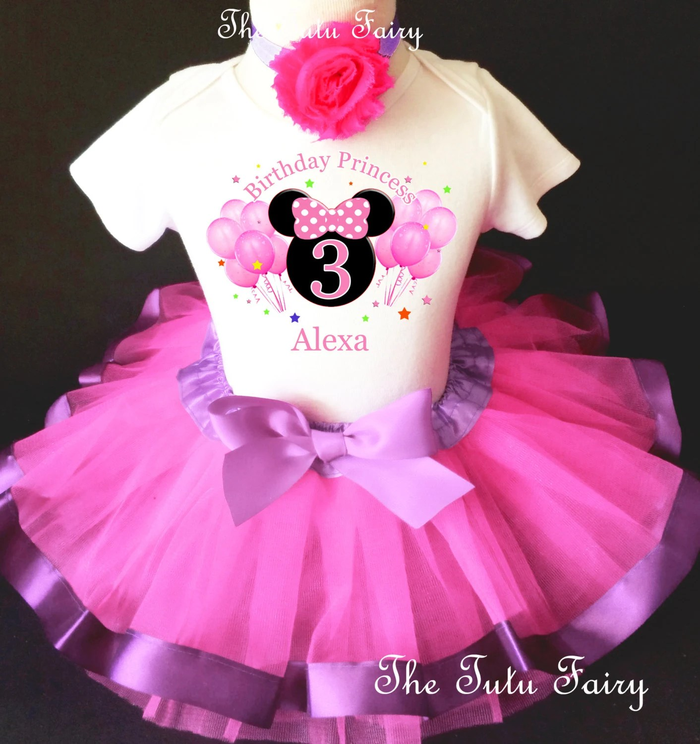 Minnie Mouse 3rd Birthday Outfit Etsy