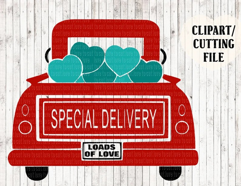 Download Red truck special delivery loads of love valentines svg ...