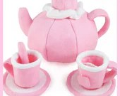 TEA SET - PDF Felt Food Pattern (Teapot, Cups, Saucers, Tea Bags, Spoons)