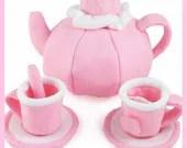 TEA SET - PDF Felt Food Pattern (Teapot, Cups, Saucers, Tea Bags, Spoons)