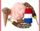 COUNTY FAIR Treats - PDF Felt Food Pattern (Cotton Candy, Frozen Bananas, Ice Cream, Popsicle, Churro)