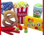 MOVIE TIME - PDF Felt Food Pattern (Popcorn, Candy, Pretzel, Licorice, Drink, Tickets)
