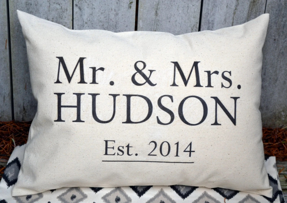 Personalized 2nd Anniversary Cotton Gift Mr. & Mrs.