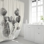 Thistles Dried Plants Shower Curtain In Polyester Fabric Etsy