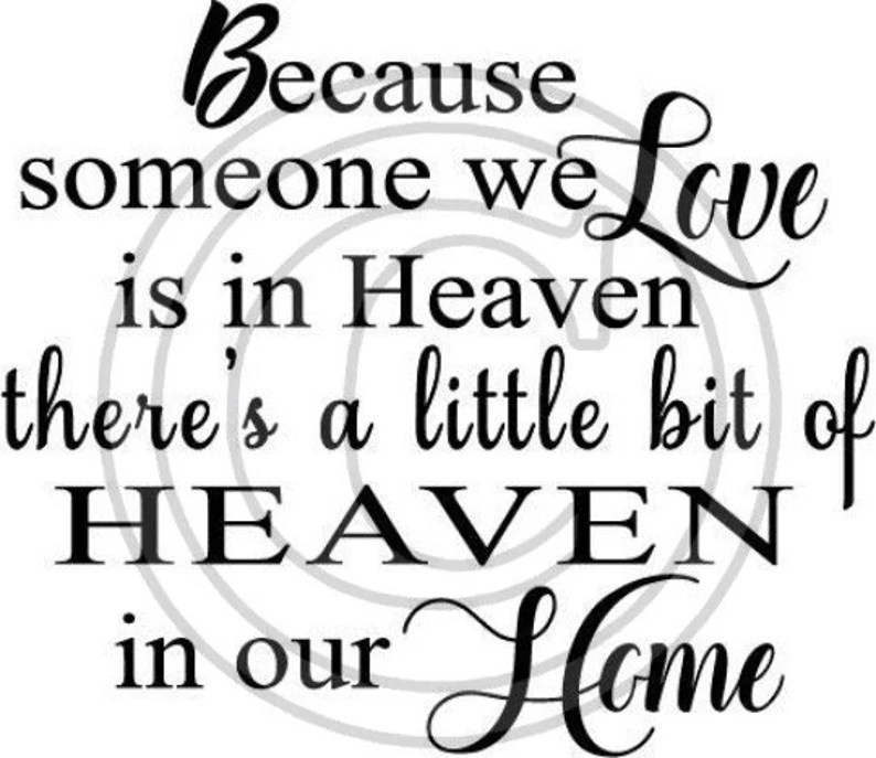 Download Because Somebody I love is in Heaven SVG | Etsy