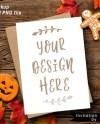 Halloween Cookie Card Mockup Stationery Mock Up Greetings Etsy