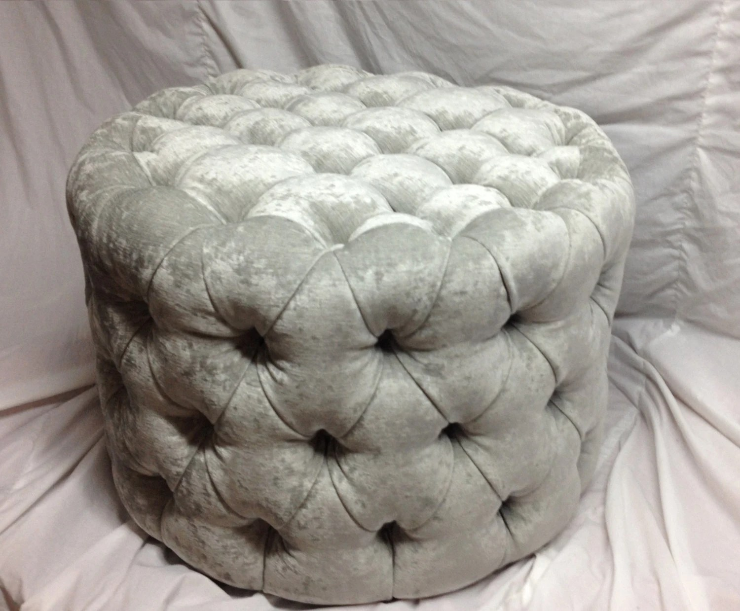 round tufted ottoman upholstered ottoman coffee table tufted stool round stool custom made ottoman