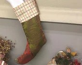 Christmas Stocking/ Upcycled Christmas Stocking / Maximalist Christmas Stocking