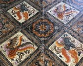 "Vintage Cohama ""Bali"" Print Chintz Fabric"