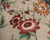 Vintage 1978 Luther Travis Floral Fabric