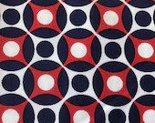 Earl Loom Red White and Blue Circular Canvas Fabric