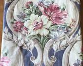 Vintage 1930s Floral Fabric Remnant