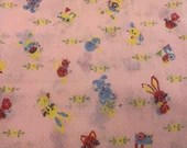 Vintage 1960s Baby Fabric, Children's Fabric, Vintage Kids
