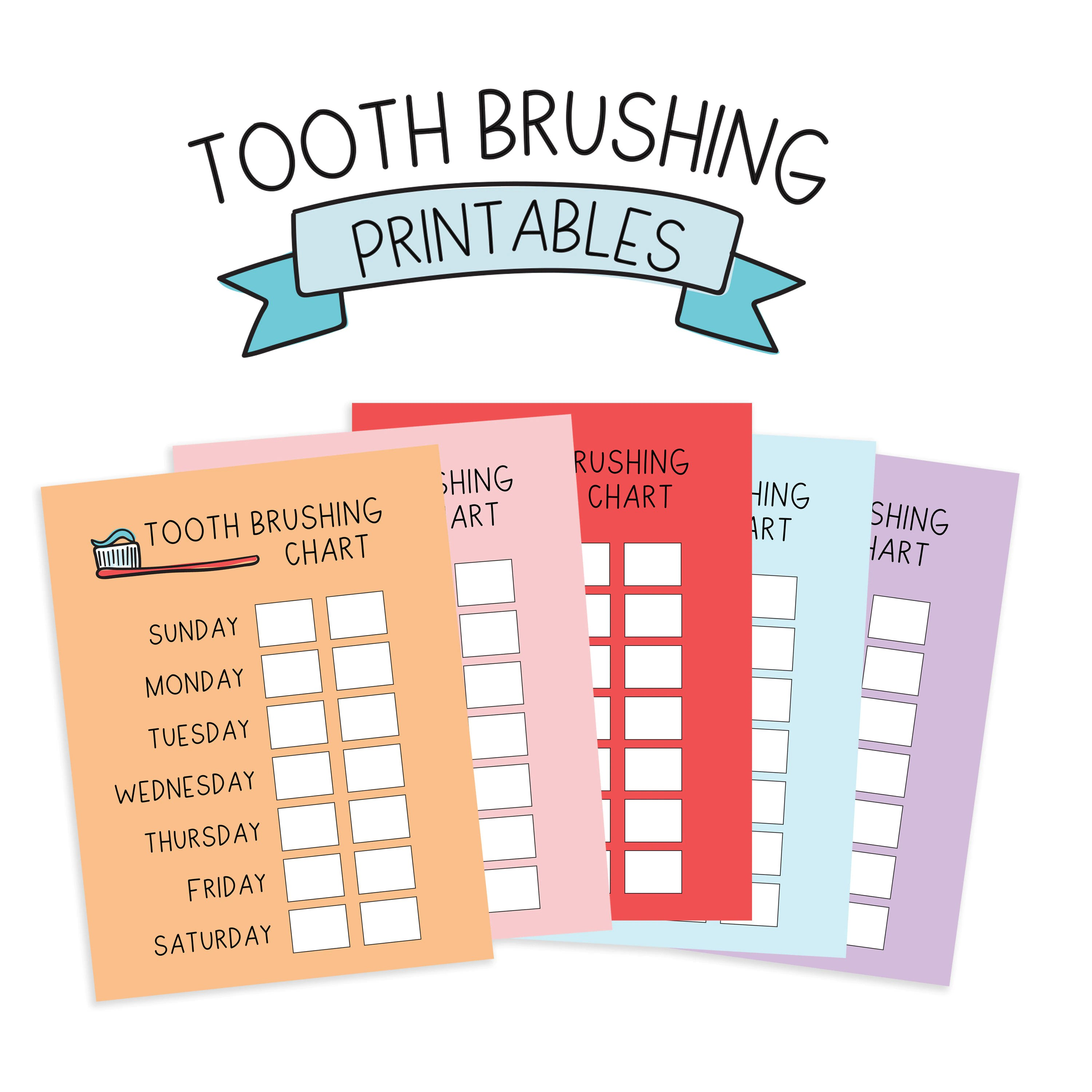 Tooth Brushing Chore Chart Printables