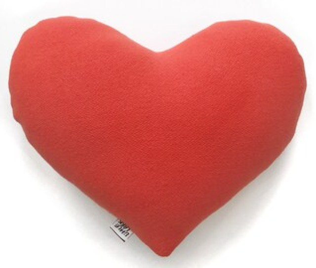 Red Love Heart Pillow Valentine Gift Love Pillow Wool Heart Love Gift For A Special Sweetheart Valentines Day Gift Kids Pillow Kids