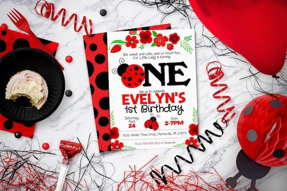 ladybug invitation for ladybug birthday