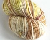 Hand dyed yarn, silver sp...