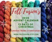 Yarn Advent Calendar, 12 Days of Christmas, yarn pre-order, sock, sparkle sock or dk, 24 or 12 mini skeins 20g, hand dyed yarn-vent calendar
