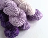 Hand dyed purple gradient mini skeins. 5 x 20g semi-solid mini skein yarn sets. sparkle sock, sock/4ply/fingering, DK yarn minis.