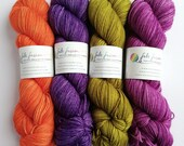 Hand dyed sport weight yarn, semi-solid colours on 80/20% superwash merino wool/nylon, Choose your colour.