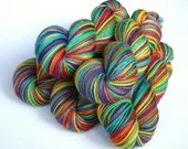 Hand dyed rainbow yarn. R...
