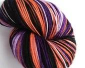 Hand dyed sock yarn.  100...