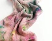 Hand dyed sparkle sock ya...