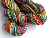 Hand dyed custom, dyed to order rainbow yarn. RAINBOWS. Rainbow pre-order yarn. Choose from the list, or create your own. Unicorn yarn.