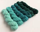 Hand dyed gradient blue s...