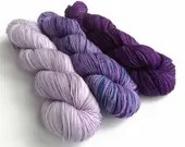 Hand dyed yarn pre-order, choose colours and base, shawl knitting, sweater set, jumper knitting, gradient yarn,  fade KAL Gloamin tide MKAL