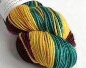 Hand dyed yarn, silver sp...